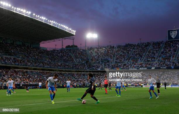 A general view during the La Liga match between Malaga and Real Madrid at La Rosaleda Stadium on May 21 2017 in Malaga Spain