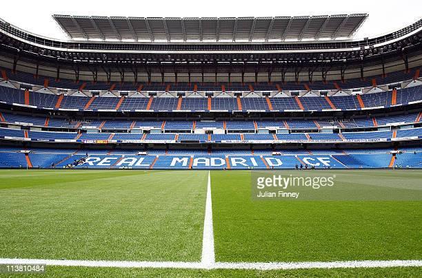 General view during the La Liga match between Real Madrid and Real Zaragoza at Estadio Santiago Bernabeu on April 30, 2011 in Madrid, Spain.