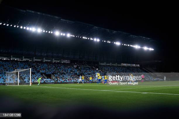 General view during the La Liga Santander match between RC Celta de Vigo and Cadiz CF at Abanca Balaidos Stadium on September 17, 2021 in Vigo, Spain.