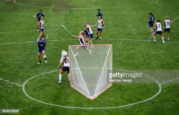 A general view during the Lacrosse Women's match between Great Britain and Japan of The World Games at Olawka Stadium on July 27 2017 in Wroclaw...