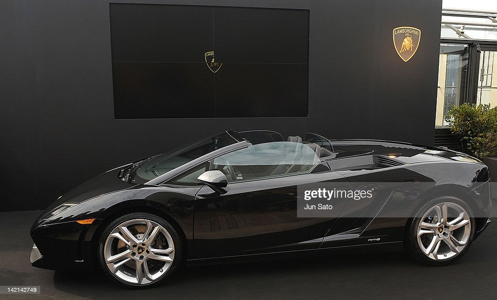 A General View During The Lamborghini Gallardo LP550 2 Spyder Press  Conference At Bvlgari Hotels