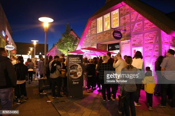 A general view during the late night shopping at Designer Outlet Soltau on August 4 2017 in Soltau Germany