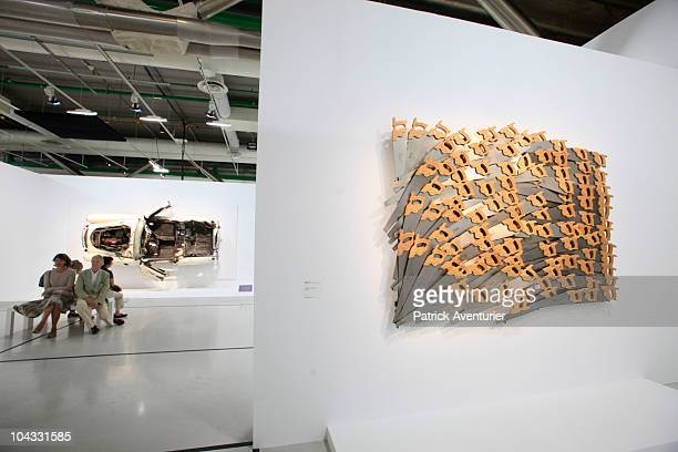 A general view during the launch of a retrospective exhibition of artist 'Arman' at the Centre Pompidou on September 21 2010 in Paris France A...