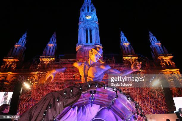 General view during the Life Ball 2017 show at City Hall on June 10, 2017 in Vienna, Austria.