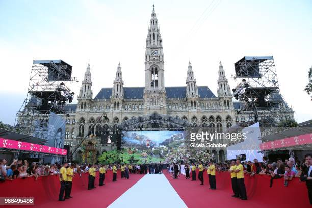 A general view during the Life Ball 2018 at City Hall on June 2 2018 in Vienna Austria The Life Ball an annual charity event raising funds for HIV...