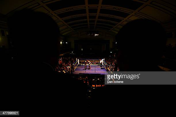 A general view during the Light Welterweight bout between Brett Beadon and Ivan Godor at York Hall on March 8 2014 in London England