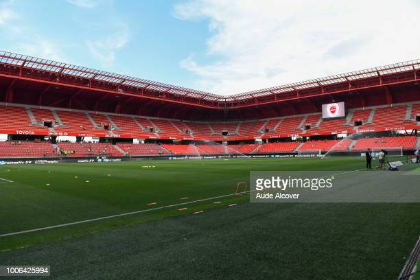 General view during the Ligue 2 match between Valenciennes and Auxerre at Stade du Hainaut on July 27 2018 in Valenciennes France