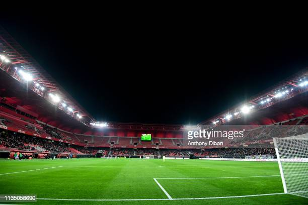 General view during the Ligue 2 match between Valenciennes and Troyes at Stade du Hainaut on April 5 2019 in Valenciennes France