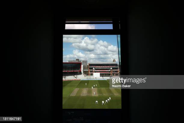 General view during the LV= Insurance County Championship match between Sussex and Lancashire at Emirates Old Trafford on April 09, 2021 in...