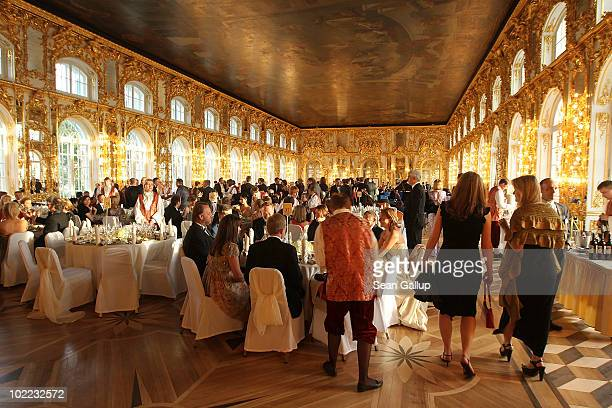 A general view during the Mariinsky Ball of Montblanc White Nights Festival at Catherine Palace on June 19 2010 in Pushkin near Saint Petersburg...