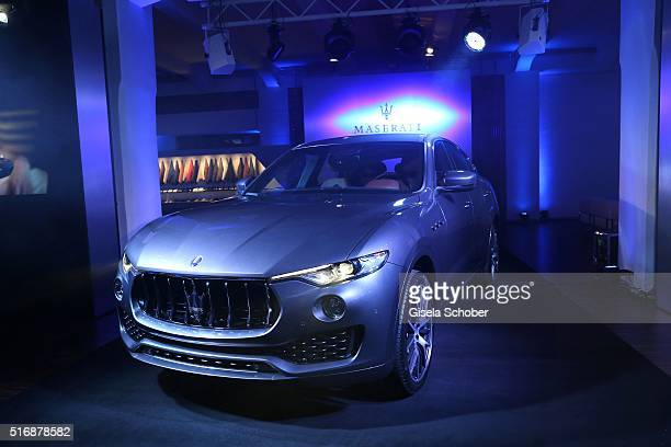 A general view during the Maserati 'Levante' Launch event on March 21 2016 in Frankfurt am Main Germany