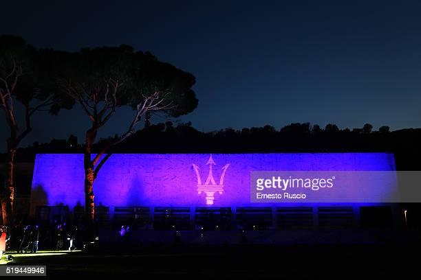 General view during the 'Maserati Levante' Presentation at Casa Delle Armi on April 6 2016 in Rome Italy