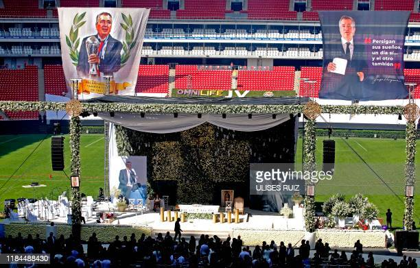 General view during the mass and tribute to businessman Jorge Vergara owner of the Guadalajara Football Club in Guadalajara Jalisco state Mexico on...