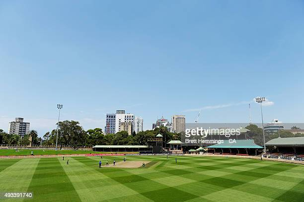 A general view during the Matador BBQs One Day Cup match between Tasmania and Victoria at North Sydney Oval on October 20 2015 in Sydney Australia