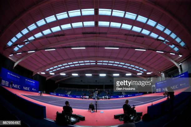 A general view during the match between Alfie Hewett of Great Britain and Shingo Kunieda of Japan on day 2 of The NEC Wheelchair Tennis Masters at...