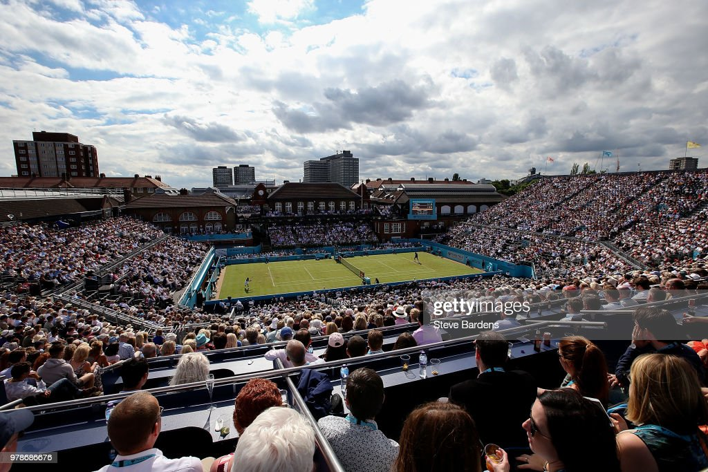 A general view during the match between Andy Murray of Great Britain and Nick Kyrgios of Australia on Day Two of the Fever-Tree Championships at Queens Club on June 19, 2018 in London, United Kingdom.