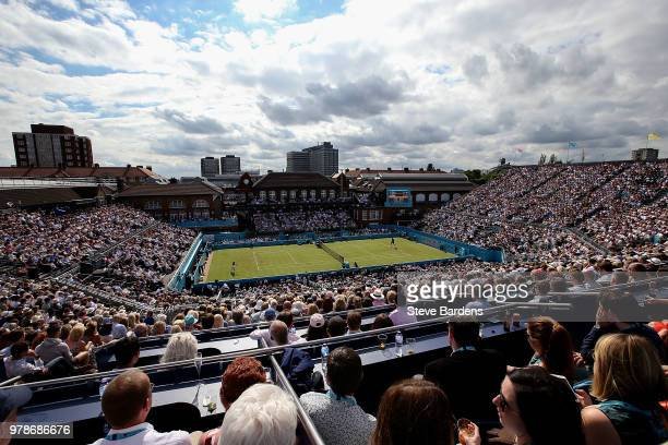A general view during the match between Andy Murray of Great Britain and Nick Kyrgios of Australia on Day Two of the FeverTree Championships at...