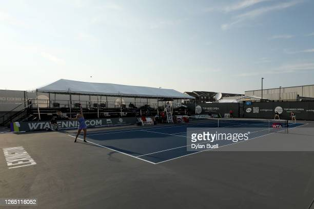 A general view during the match between Aryna Sabalenka of Belarus and Madison Brengle during the Top Seed Open Day 1 at the Top Seed Tennis Club on...