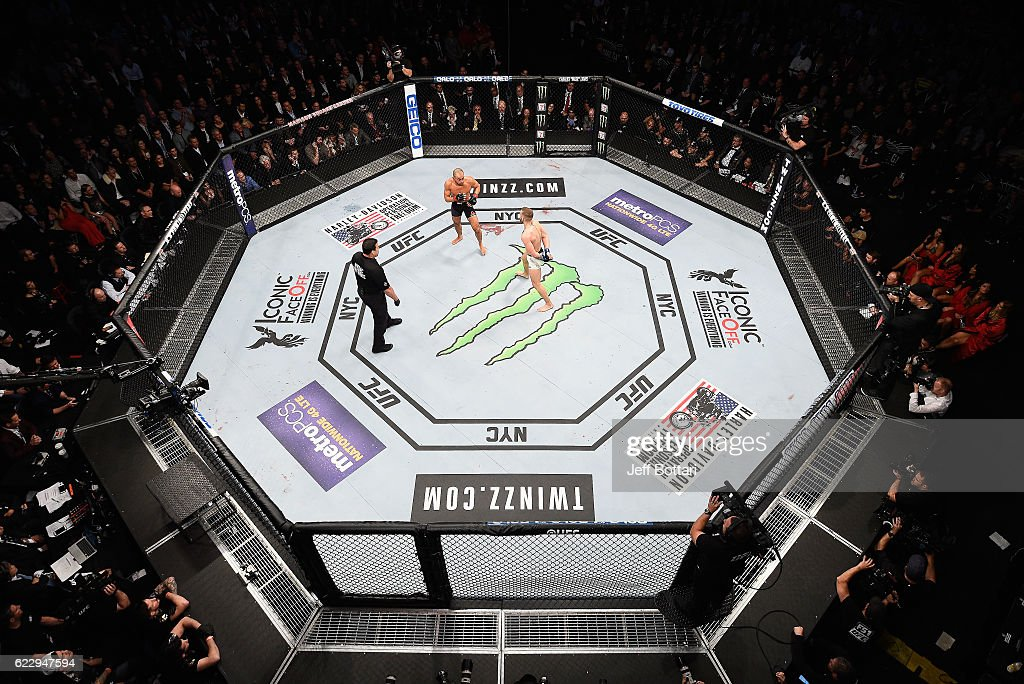 A general view during the match between Eddie Alvarez of the United States and Conor McGregor of Ireland during the UFC 205 event at Madison Square Garden on November 12, 2016 in New York City.
