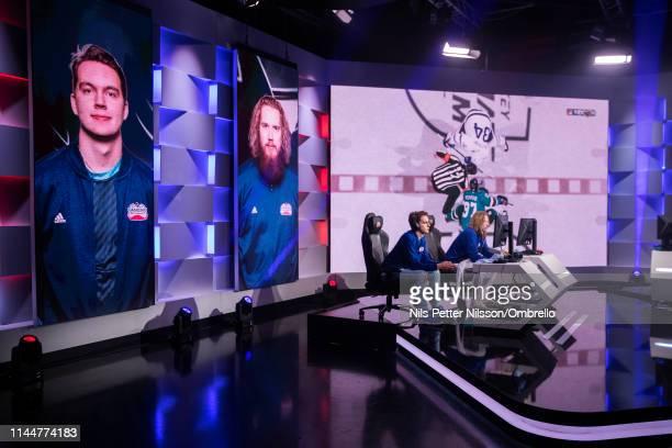 "General view during the match between Erik ""Eki"" Tammenpaa and Hannes ""Hansulinho"" Kettunen during the 2019 NHL Gaming World Championship - European..."