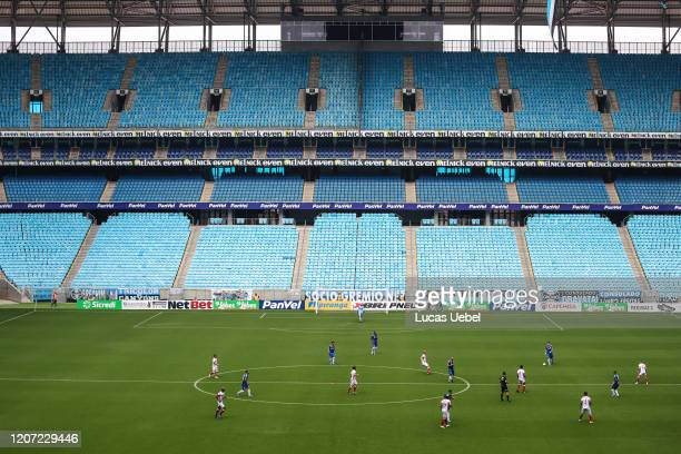 General view during the match between Gremio and Sao Luiz as part of the Rio Grande do Sul State Championship 2020 to be played behind closed doors...