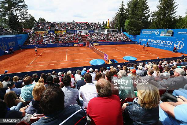 A general view during the match between Julia Goerges of Germany and Kiki Bertens of Netherlands during day seven of the Nuernberger Versicherungscup...