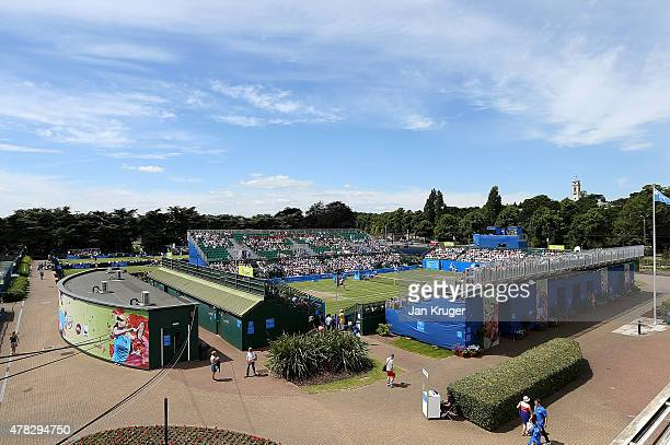 General view during the match between Marcus Baghdatis of Cyprus and Alexander Zverev of Germany on day four of the Aegon Open Nottingham at...