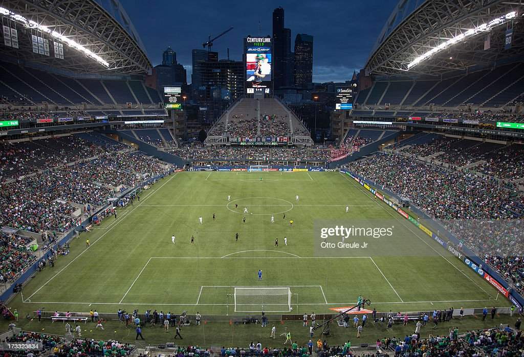 A general view during the match between Mexico and Canada at CenturyLink Field on July 11, 2013 in Seattle, Washington. Mexico defeated Canada 2-0.