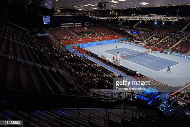 General view during the match between Novak Djokovic of Serbia and Filip Krajinovic of Serbia on day four of the Erste Bank Open tennis tournament at...