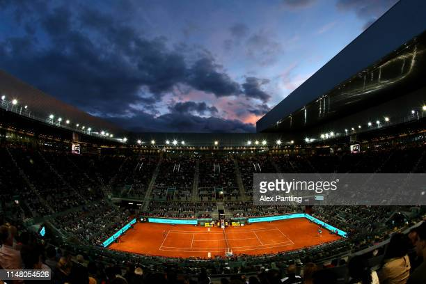 A general view during the match between Rafael Nadal of Spain and Francis Tiafoe of The United States during day six of the Mutua Madrid Open at La...