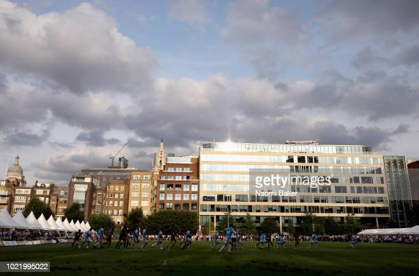 General view during the match between Saracens and Ospreys at Honourable Artillery Company on August 23 2018 in London England