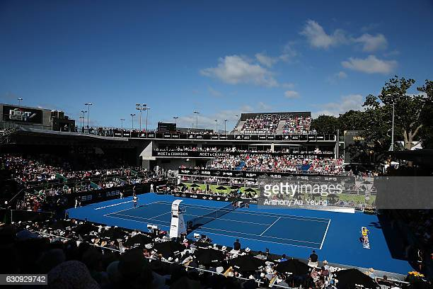 General view during the match between Serena Williams of USA and Madison Brengle of USA on day three of the ASB Classic on January 4 2017 in Auckland...