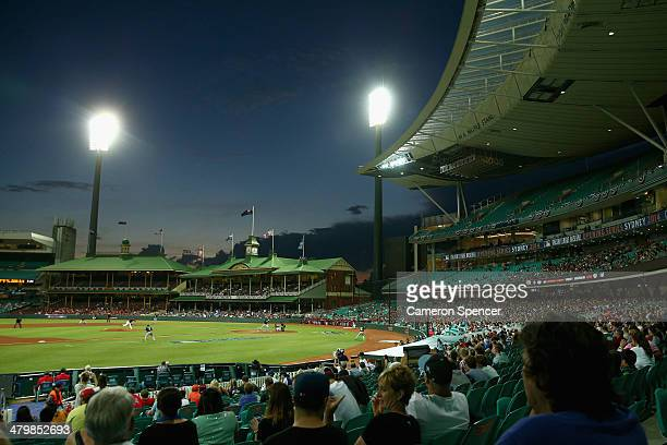 A general view during the match between Team Australia and the Arizona Diamondbacks at Sydney Cricket Ground on March 21 2014 in Sydney Australia