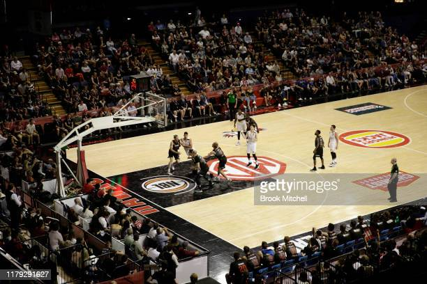 General view during the match between the Illawarra Hawks and the Brisbane Bullets at WIN Sports & Entertainment Centre on October 06, 2019 in...