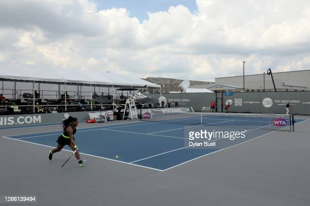 General view during the match between Venus Williams and Serena Williams during Top Seed Open - Day 4 at the Top Seed Tennis Club on August 13, 2020...