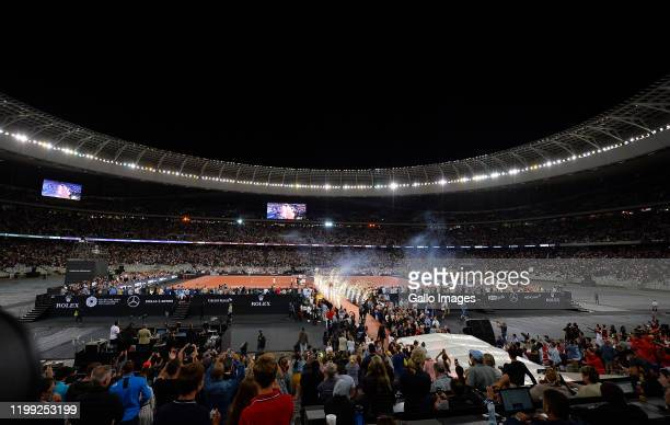 General view during the Match in Africa between Roger Federer and Rafael Nadal at Cape Town Stadium on February 07 2020 in Cape Town South Africa