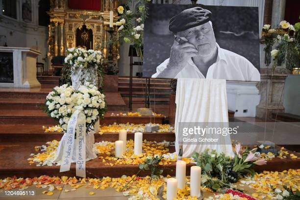 General view during the memorial ceremony for Joseph Vilsmaier at St. Michael Kirche on March 2, 2020 in Munich, Germany.