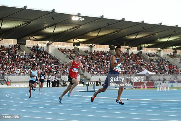 A general view during the Men 400 Metre U18 event during the Perth Track Classic at WA Athletics Stadium on March 12 2016 in Perth Australia
