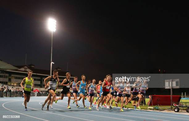 A general view during the Mens 10000 Meter Run Open Zatopek race during Zatopek 10 at Lakeside Stadium on December 14 2017 in Melbourne Australia