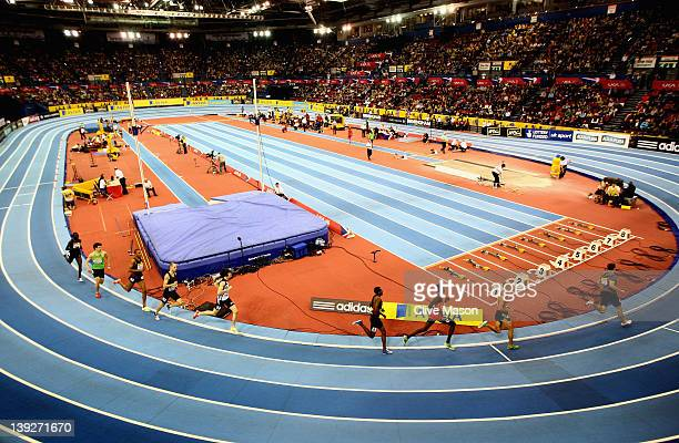 A general view during the mens 1500m race during the Aviva Grand Prix at the NIA Arena on February 18 2012 in Birmingham England