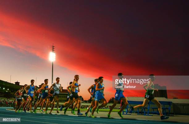 A general view during the Mens 3000 Meter Run Under 20 race during Zatopek 10 at Lakeside Stadium on December 14 2017 in Melbourne Australia