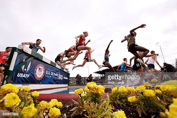 A general view during the Men's 3000 Meter Steeplechase Final during the 2016 US Olympic Track Field Team Trials at Hayward Field on July 8 2016 in...