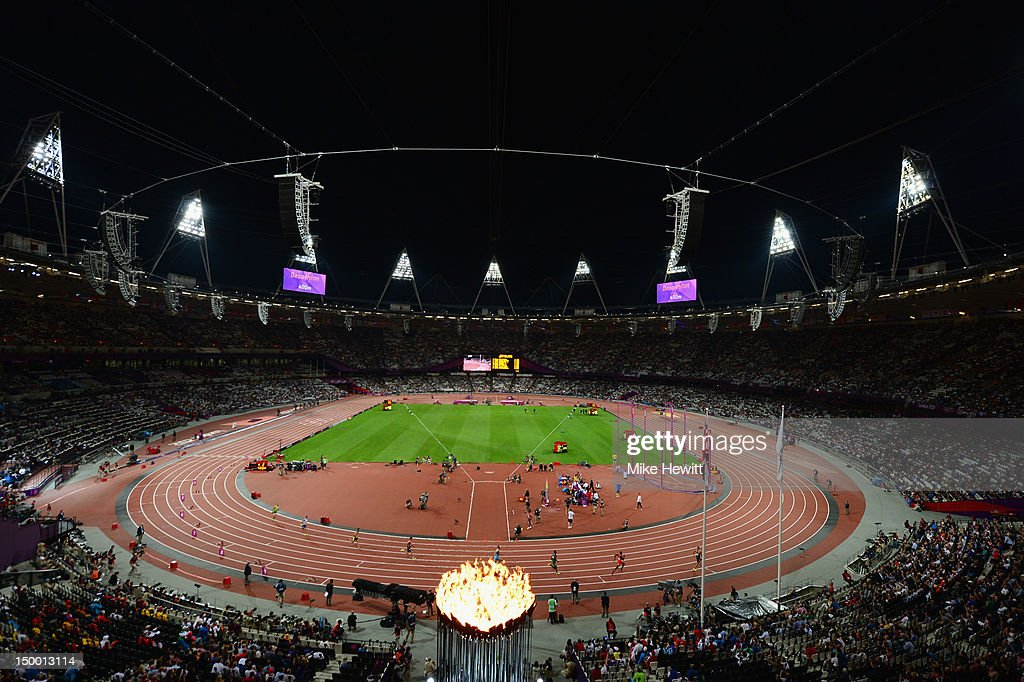 A general view during the Men's Decathlon 400m Heats on Day 12 of the London 2012 Olympic Games at Olympic Stadium on August 8, 2012 in London, England.