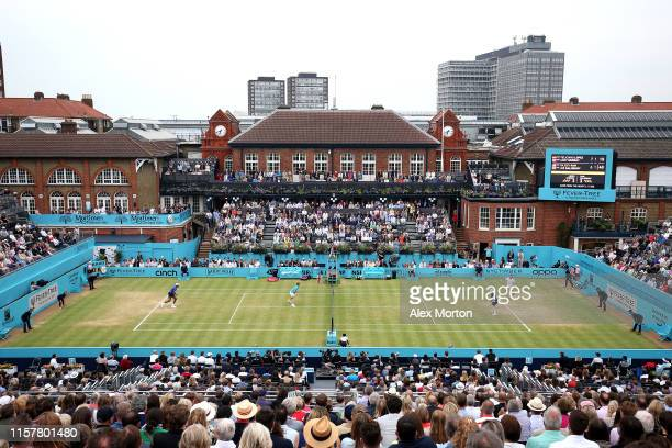General view during the mens doubles final between Andy Murray of Great Britain, Feliciano Lopez of Spain and Rajeev Ram of The United States and Joe...