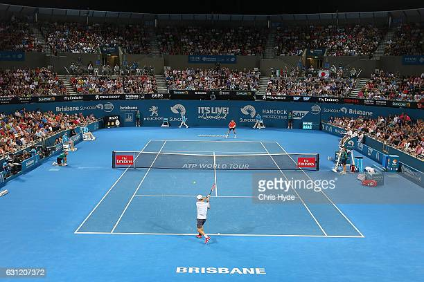 General view during the Men's Final match between Grigor Dimitrov of Bulgaria against Kei Nishikori of Japan during day eight of the Brisbane...