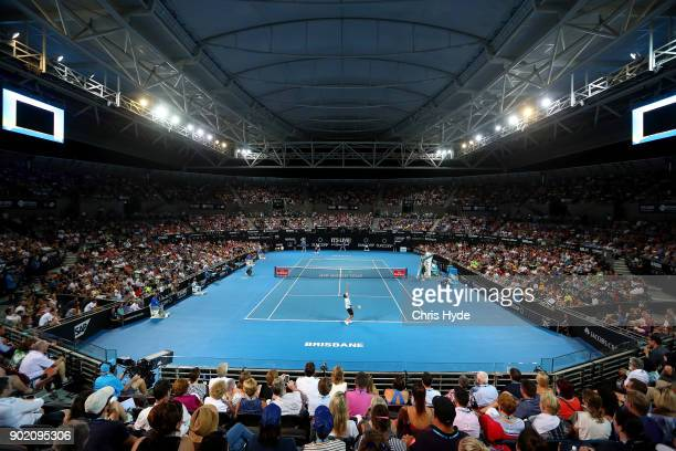 General view during the Men's Final match between Nick Kyrgios of Australia and Ryan Harrison of the USA during day eight of the 2018 Brisbane...