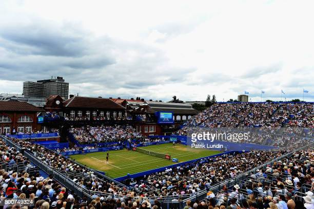 A general view during the mens singles final between Marin Cilic of Croatia and Feliciano Lopez of Spain during day seven of the 2017 Aegon...