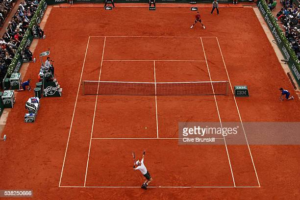 A general view during the Men's Singles final match between Novak Djokovic of Serbia and Andy Murray of Great Britain on day fifteen of the 2016...