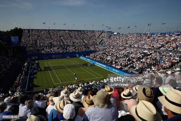 A general view during the mens singles first round match between Andy Murray of Great Britain and Jordan Thompson of Australia on day two of the 2017...