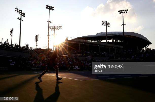 General view during the men's singles second round match between Jeremy Chardy of France and Kevin Anderson of South Africa on Day Three of the 2018...